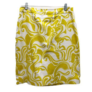 Kate Spade Swirl Pattern Pencil Skirt